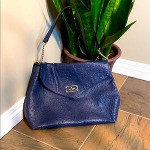Kate Spade Navy Ostrich Bag
